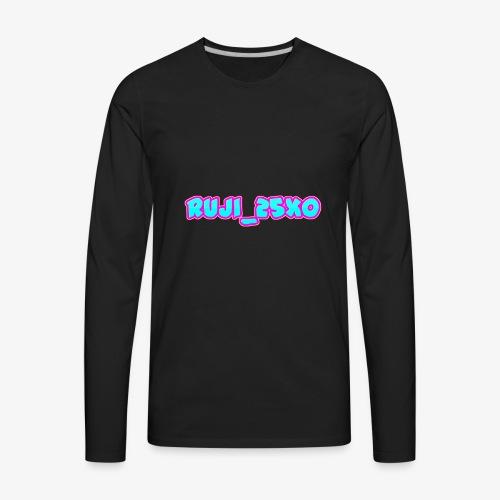 Ruji_25xo Text - Men's Premium Long Sleeve T-Shirt