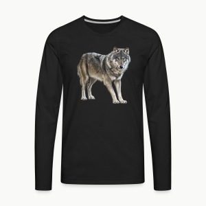 european wolf - Men's Premium Long Sleeve T-Shirt