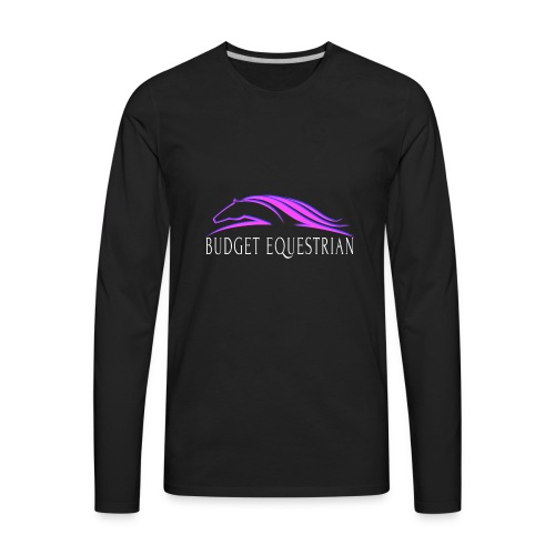Budget Equestrian Logo - Men's Premium Long Sleeve T-Shirt