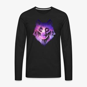 Galaxy Wolf - Men's Premium Long Sleeve T-Shirt