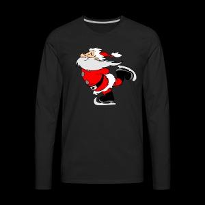 Santa Skating - Men's Premium Long Sleeve T-Shirt