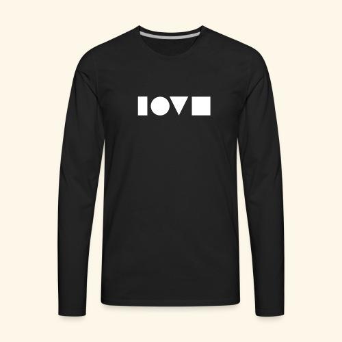 The Shape of Love - Men's Premium Long Sleeve T-Shirt