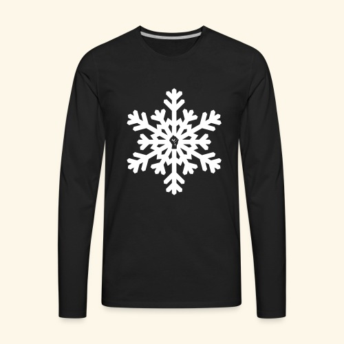 snowflake vector white - Men's Premium Long Sleeve T-Shirt