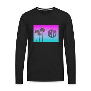 NayTendo Modern Palm Tree Logo Design - Men's Premium Long Sleeve T-Shirt