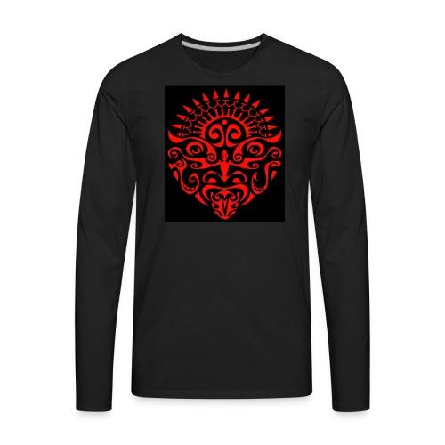 maori face - Men's Premium Long Sleeve T-Shirt