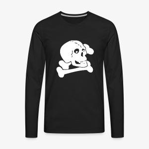 White Skull - Men's Premium Long Sleeve T-Shirt