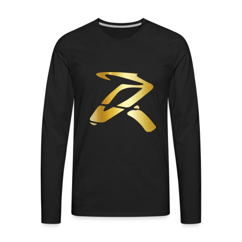 Rizz R Logo GOLD - Men's Premium Long Sleeve T-Shirt