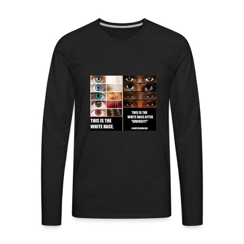 White Genocide2 - Men's Premium Long Sleeve T-Shirt