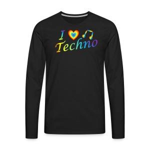 I LOVETECHNO MUSIC - Men's Premium Long Sleeve T-Shirt