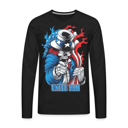 Uncle sam's joker skull - Men's Premium Long Sleeve T-Shirt