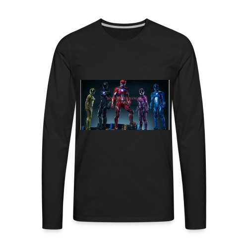 Boiis power ranger cosplay - Men's Premium Long Sleeve T-Shirt