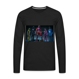Boiis power ranger cosplay - Men's Premium Long Sleeve T-Shirt