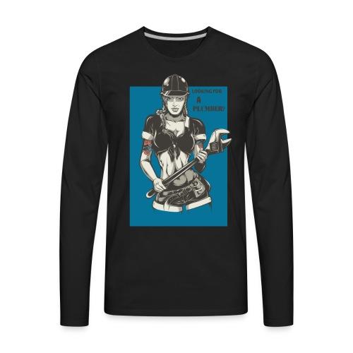 Looking for a Plumber Engineer T shirt - Men's Premium Long Sleeve T-Shirt