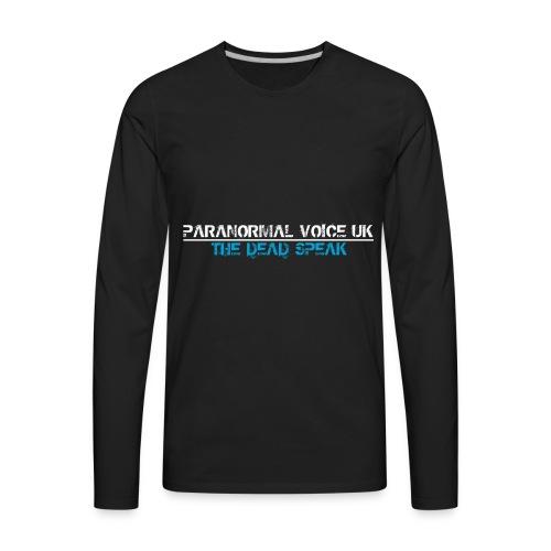 PARANORMAL VOICE UK +SIZE HOODY - Men's Premium Long Sleeve T-Shirt