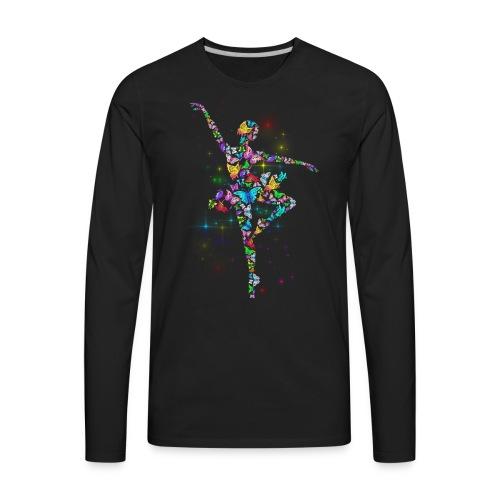 Ballerina - Butterfly - Ballet - Men's Premium Long Sleeve T-Shirt