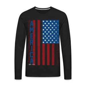 American Flag - Men's Premium Long Sleeve T-Shirt