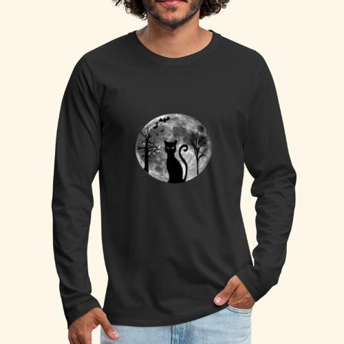 moon cat - Men's Premium Long Sleeve T-Shirt