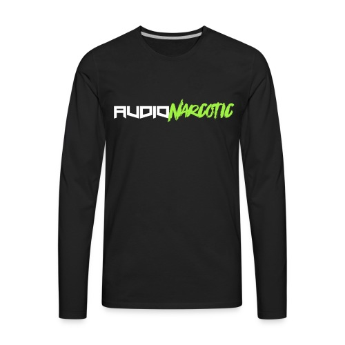 Lime Green Audio Narcotic - Men's Premium Long Sleeve T-Shirt