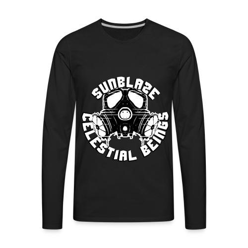 SUNBLAZE X WHITE CHOCOLATE LOGO T SHIRT - Men's Premium Long Sleeve T-Shirt