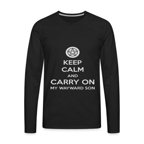 Keep Calm Shirt - Men's Premium Long Sleeve T-Shirt