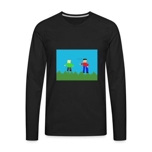 Cheesy Cheese - Men's Premium Long Sleeve T-Shirt