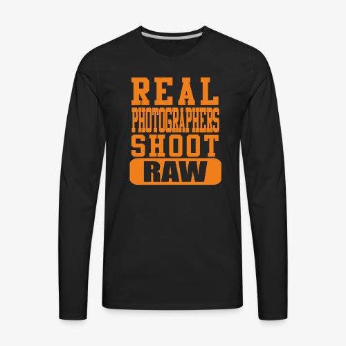 Real Photgs Orange - Men's Premium Long Sleeve T-Shirt