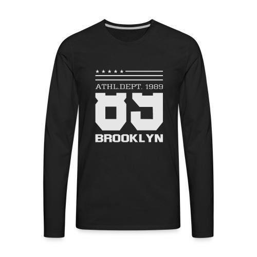 Athletic Sport Brooklyn Typography - Men's Premium Long Sleeve T-Shirt