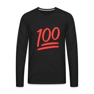100 Posts - Men's Premium Long Sleeve T-Shirt