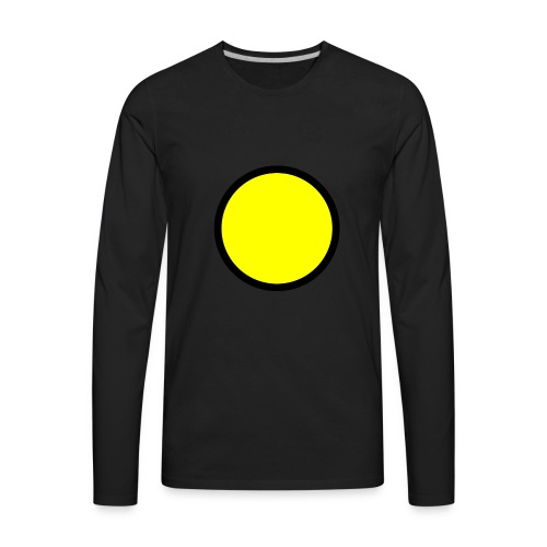 Circle yellow svg - Men's Premium Long Sleeve T-Shirt