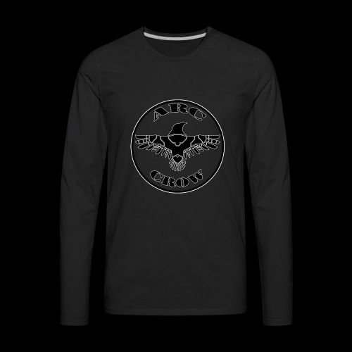 ARC CROW Logo in a circle - Men's Premium Long Sleeve T-Shirt