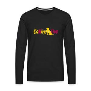 CaNine to Five Logo - Men's Premium Long Sleeve T-Shirt