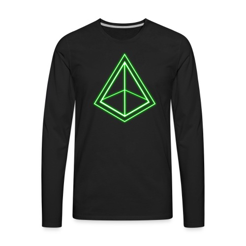 Green Pyramid - Men's Premium Long Sleeve T-Shirt