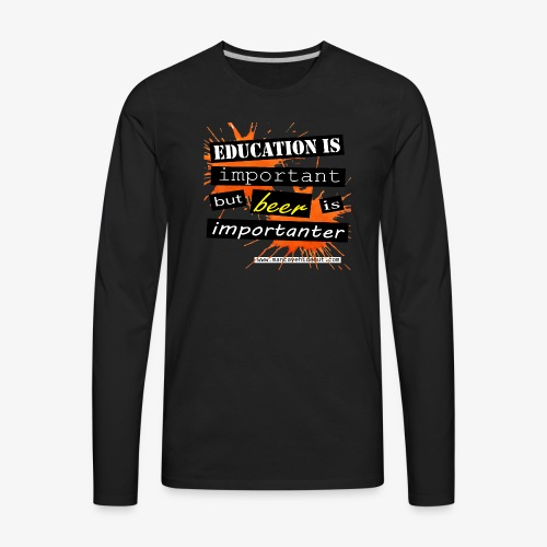 Man Cave Hideout the importance of beer. - Men's Premium Long Sleeve T-Shirt