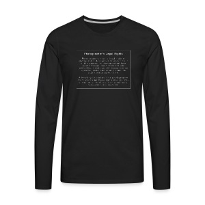 Photographers Legal Rights - Men's Premium Long Sleeve T-Shirt