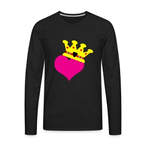 Lil Diamond's Fit for a Queen merch - Men's Premium Long Sleeve T-Shirt