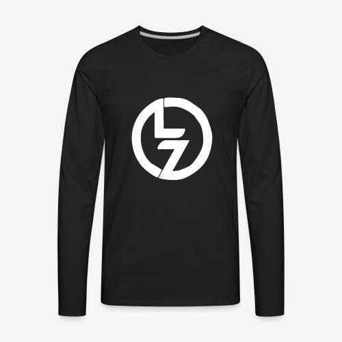 White LZ Logo - Men's Premium Long Sleeve T-Shirt
