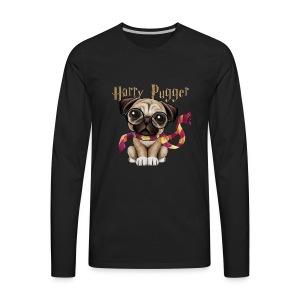 Harry Pugger Best Gift for pug lovers - Men's Premium Long Sleeve T-Shirt