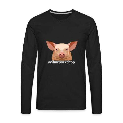3D evilmrporkchop - Men's Premium Long Sleeve T-Shirt