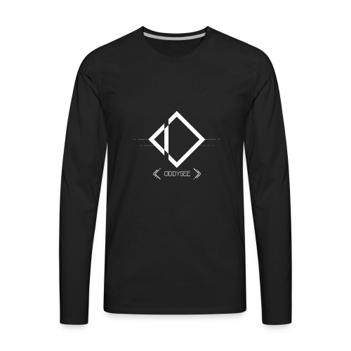 White Oddysee Logo - Men's Premium Long Sleeve T-Shirt