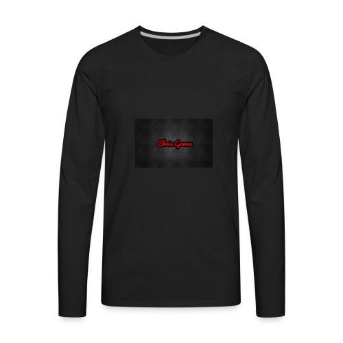 Channel Logo Tee Shirt - Men's Premium Long Sleeve T-Shirt