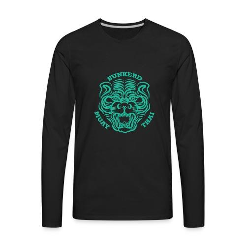 Tiger Print green - Men's Premium Long Sleeve T-Shirt