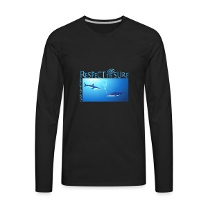 Respect The Shark - Men's Premium Long Sleeve T-Shirt