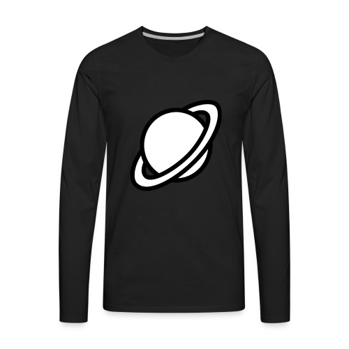 planets clipart pastel color 15 - Men's Premium Long Sleeve T-Shirt