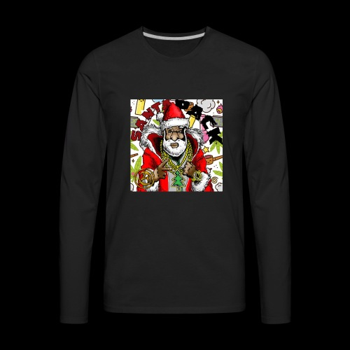 Santa Pack (Christmas Hip-Hop Gear) - Men's Premium Long Sleeve T-Shirt
