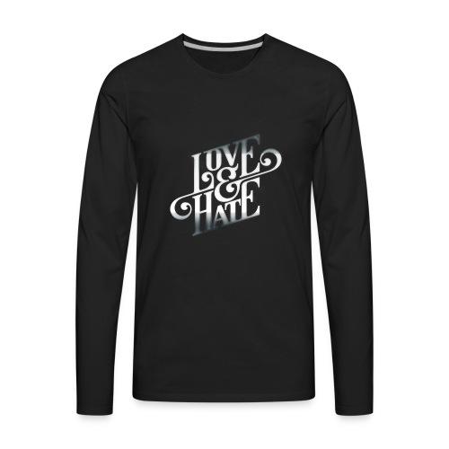 LoveHateRelationship - Men's Premium Long Sleeve T-Shirt