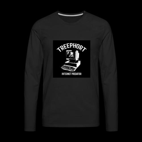 TREEPHORT: INTERNET PREDATOR MOTIF! - Men's Premium Long Sleeve T-Shirt
