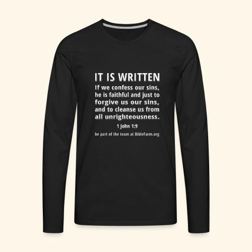 sample bible verse - Men's Premium Long Sleeve T-Shirt