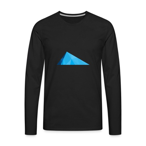 Glacier Ice logo - Men's Premium Long Sleeve T-Shirt