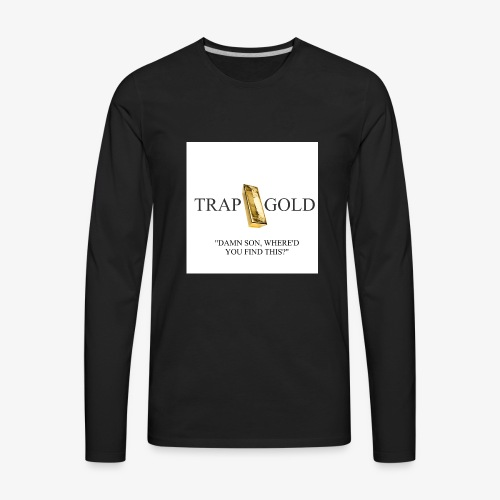trap gold logo - Men's Premium Long Sleeve T-Shirt