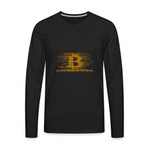 IN CRYPTOGRAPHY WE TRUST - Men's Premium Long Sleeve T-Shirt